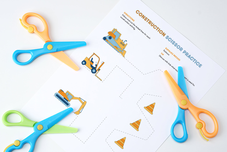 Construction Scissor Practice