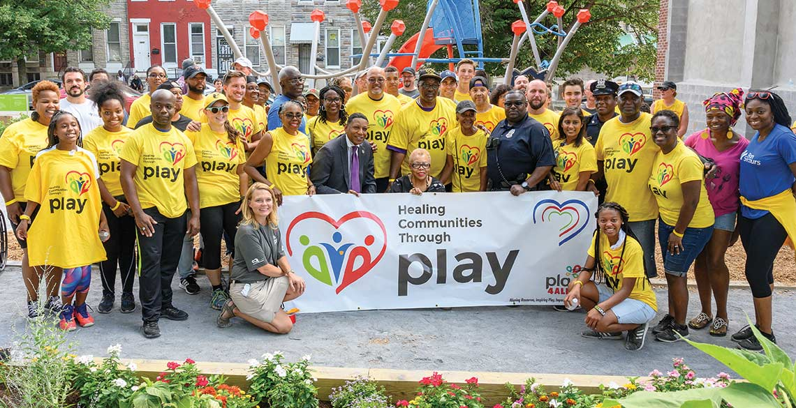 Communities gather together to heal through play