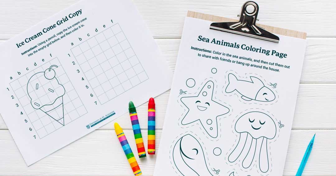 Sea Animals Coloring Printable