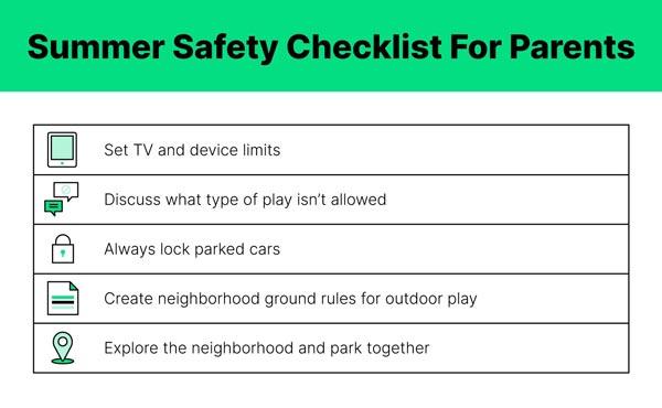 Summer Safety Checklist For Parents