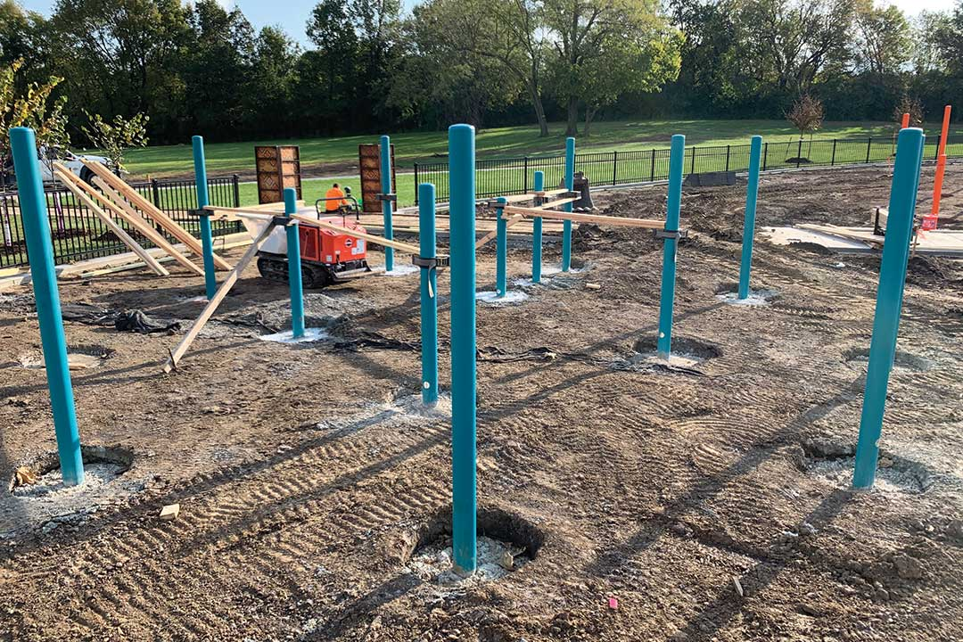 spread out play structure