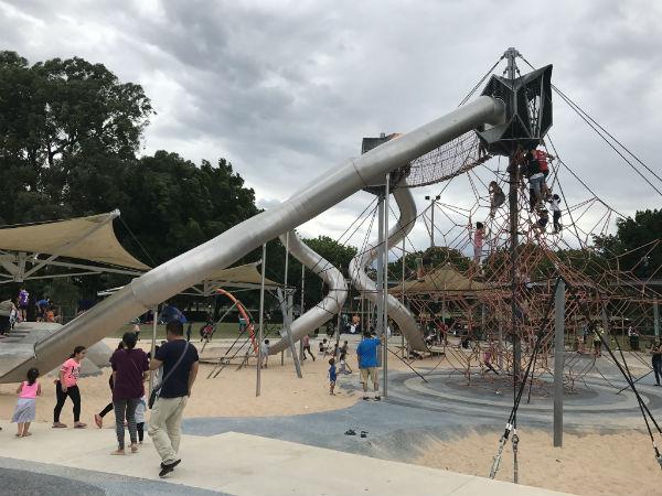 Slides in Fairfield Adventure Park