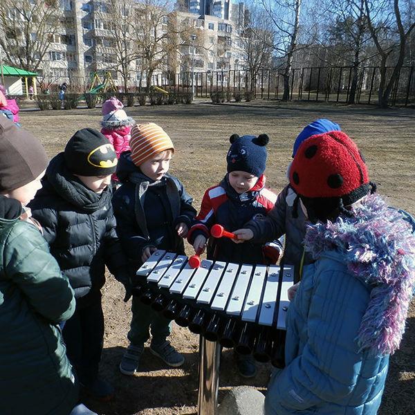 Children playing a cadenza