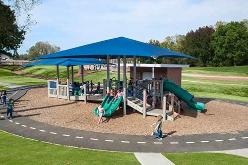 Track around play area