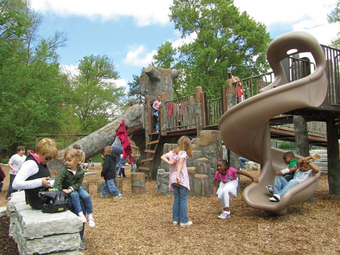 Inclusive themed playground