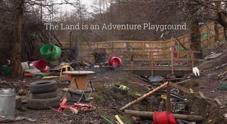 The land is an adventure playground