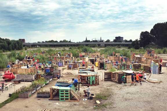 A pallet playground