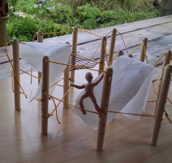 A model of a rope structure