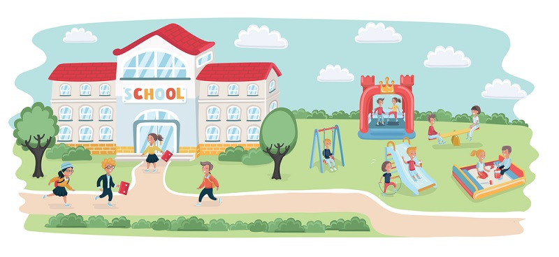 Illustration of a playground