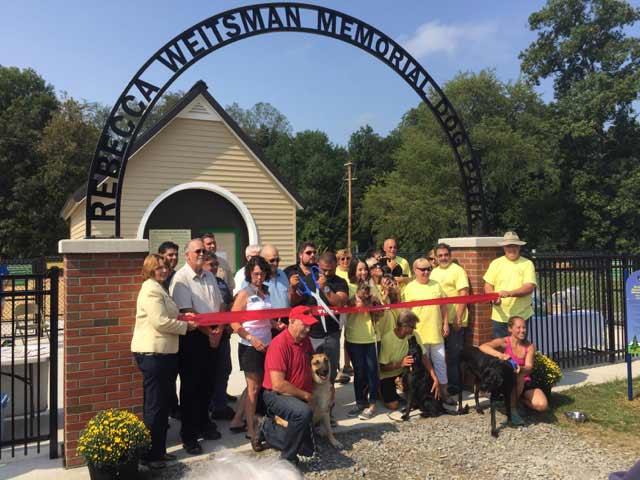 Rebecca Weitsman Dog Park Grand Opening