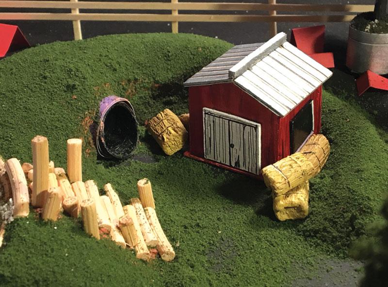 Farm themed playground concept model