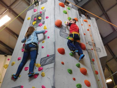 Kids love to climb at the Edge in Ammon, Idaho