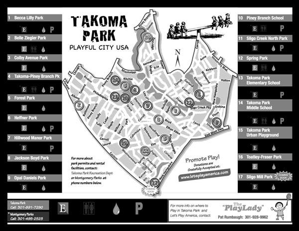 Takoma Park Play Map