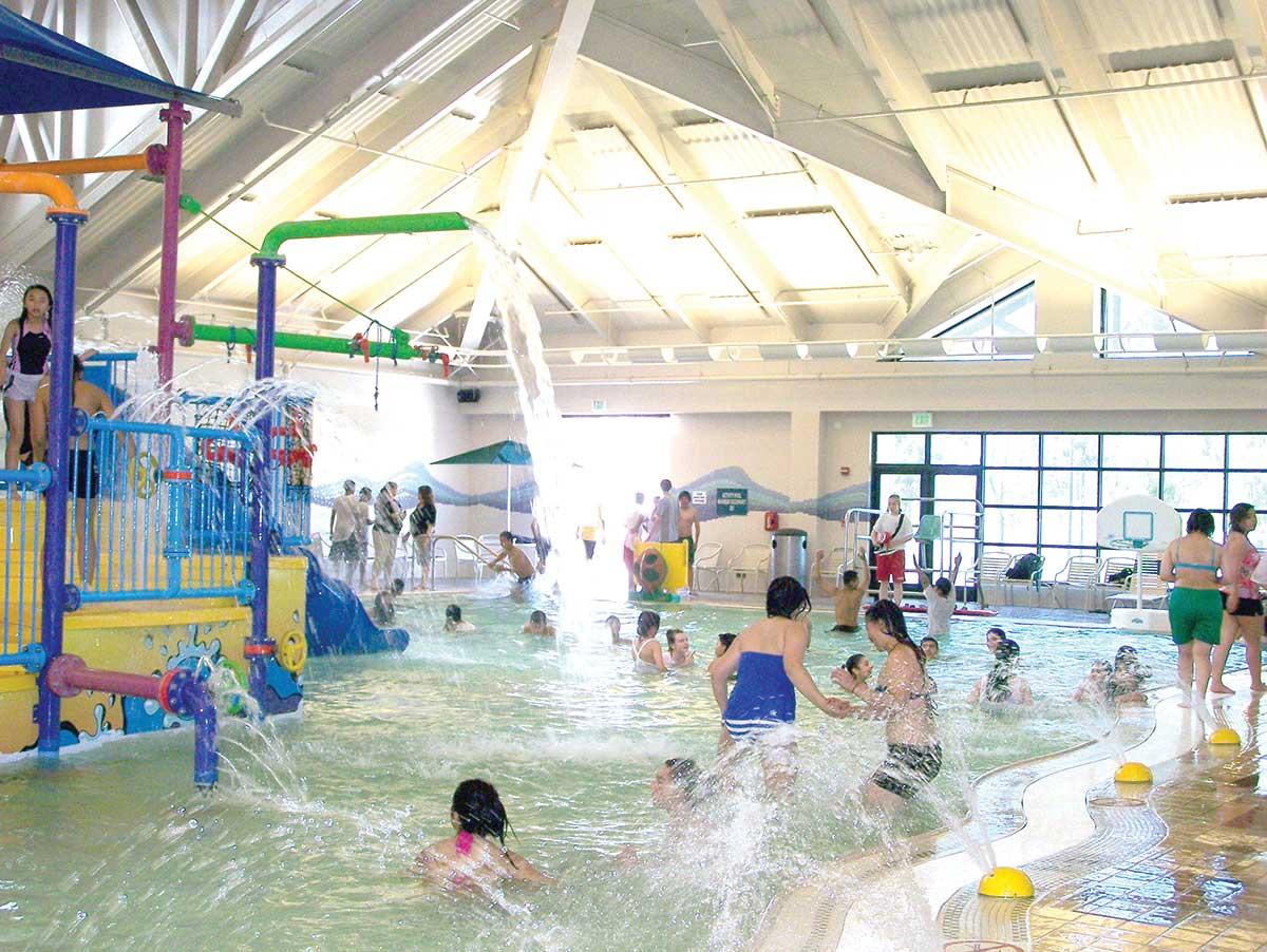 Children enjoying an aquatics facility