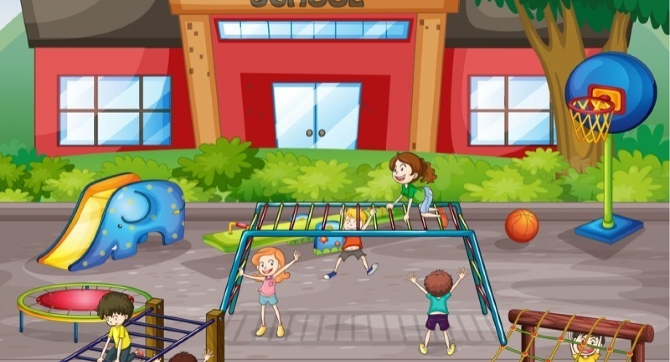 Illustration of a playground