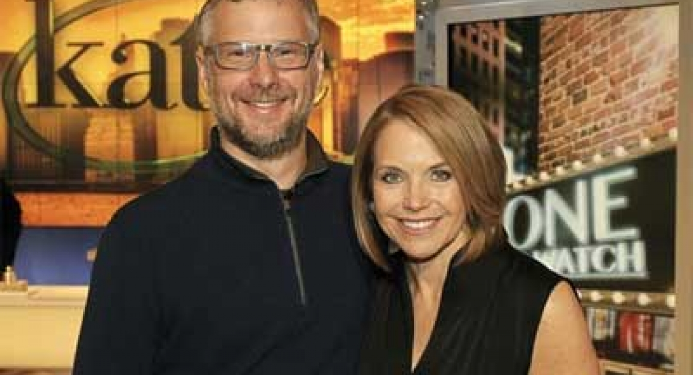 Rusty Keeler and Katie Couric