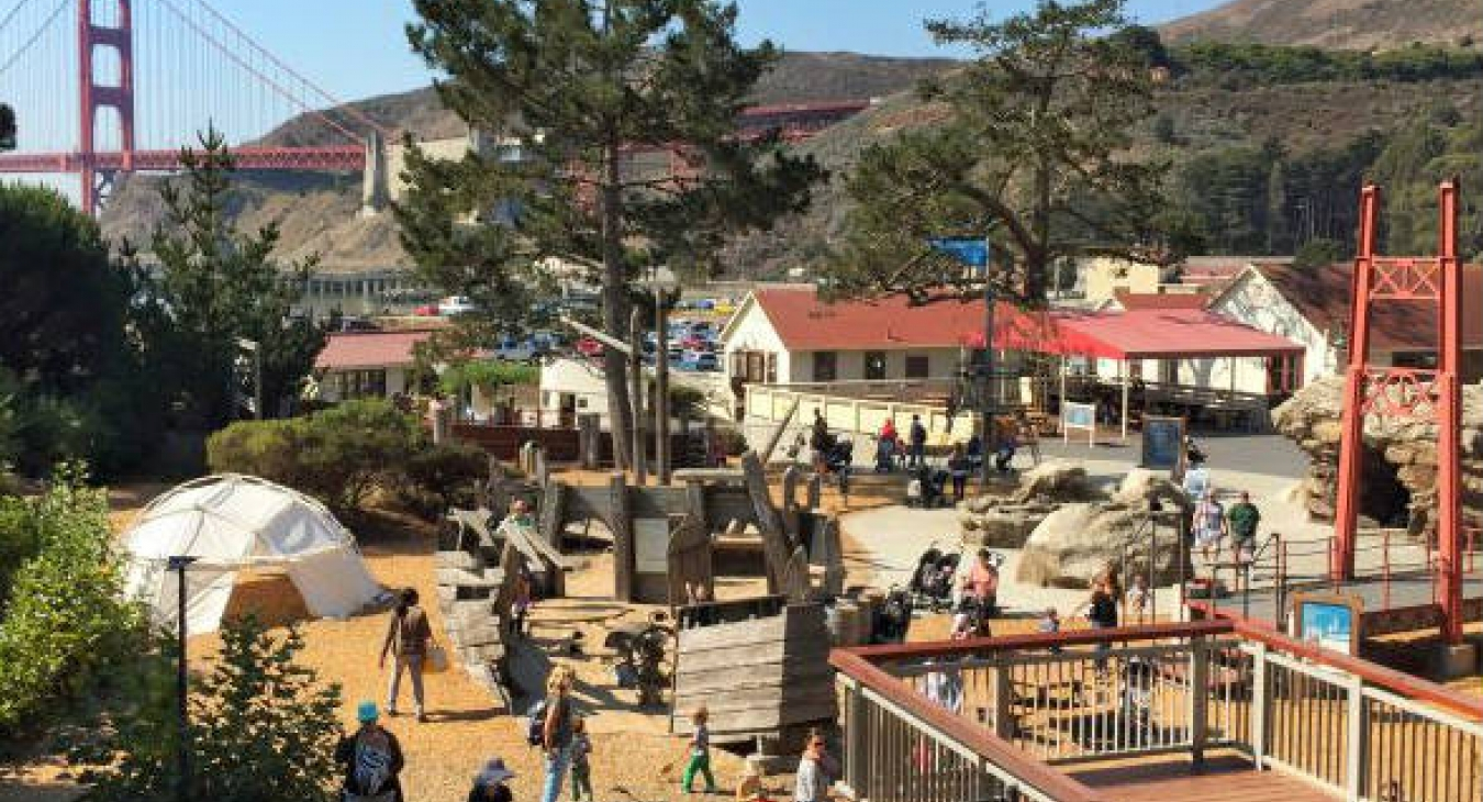 In Sausalito, California, the Bay Area Discovery Museum's Lookout Cove is 2.5 acres of tactile experiences that take inspiration from the San Francisco Bay
