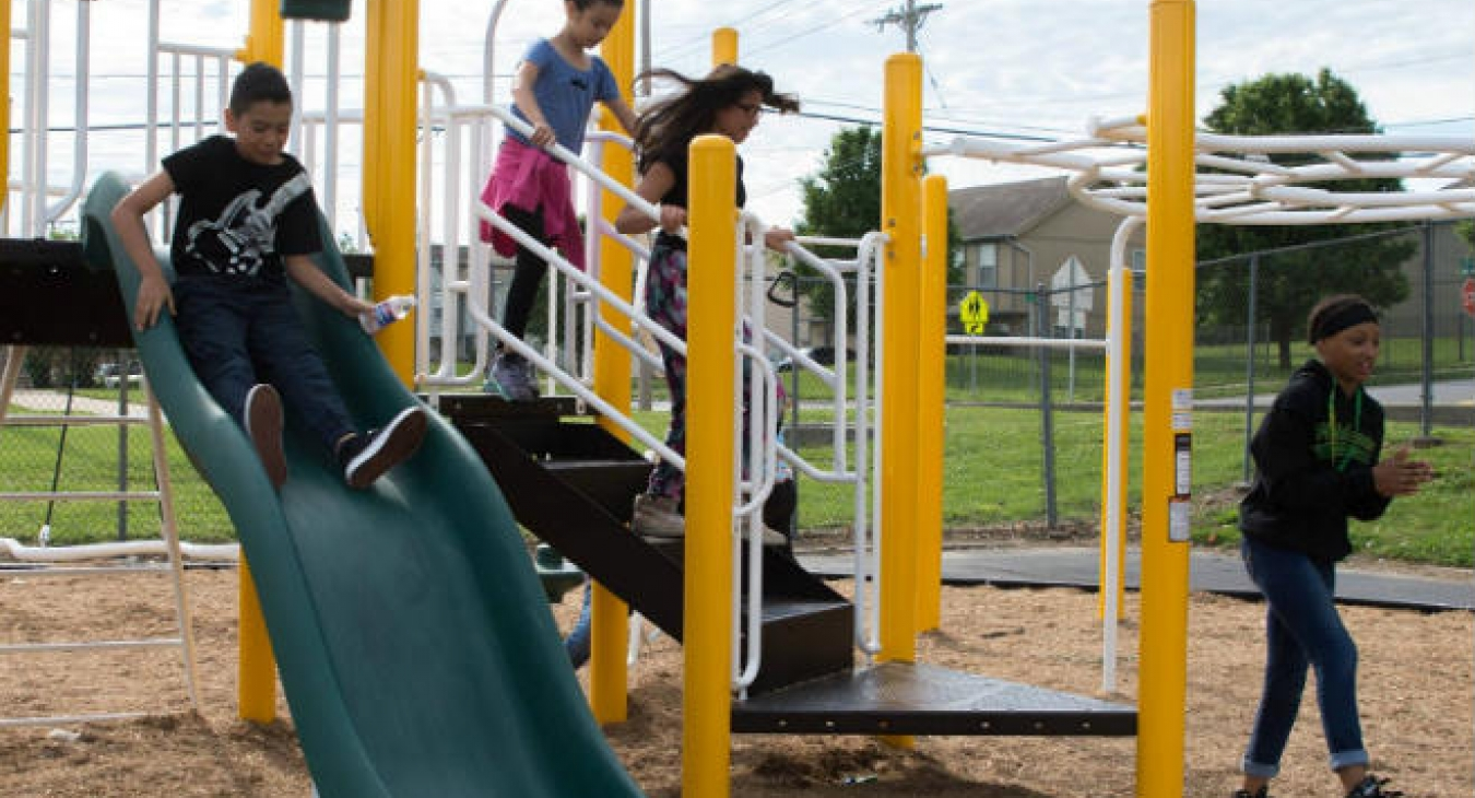 Kids on a Kansas City playground