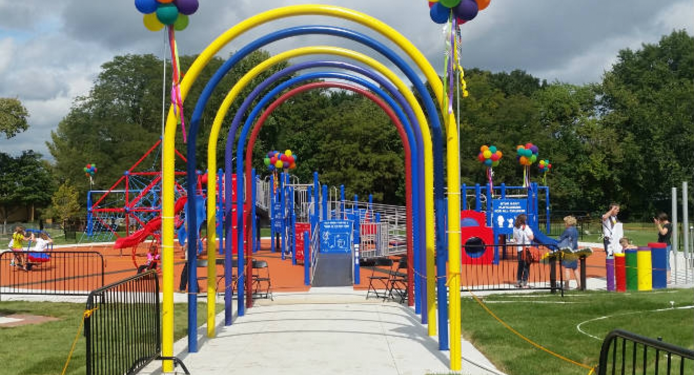Opening of Ryan Gray Playground for All Children, Lawrence, KS