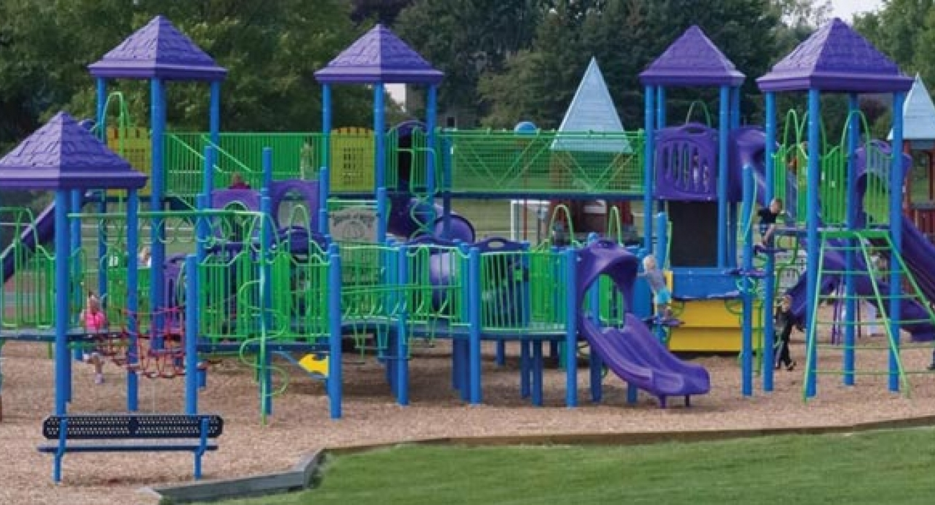 Colorful play structure