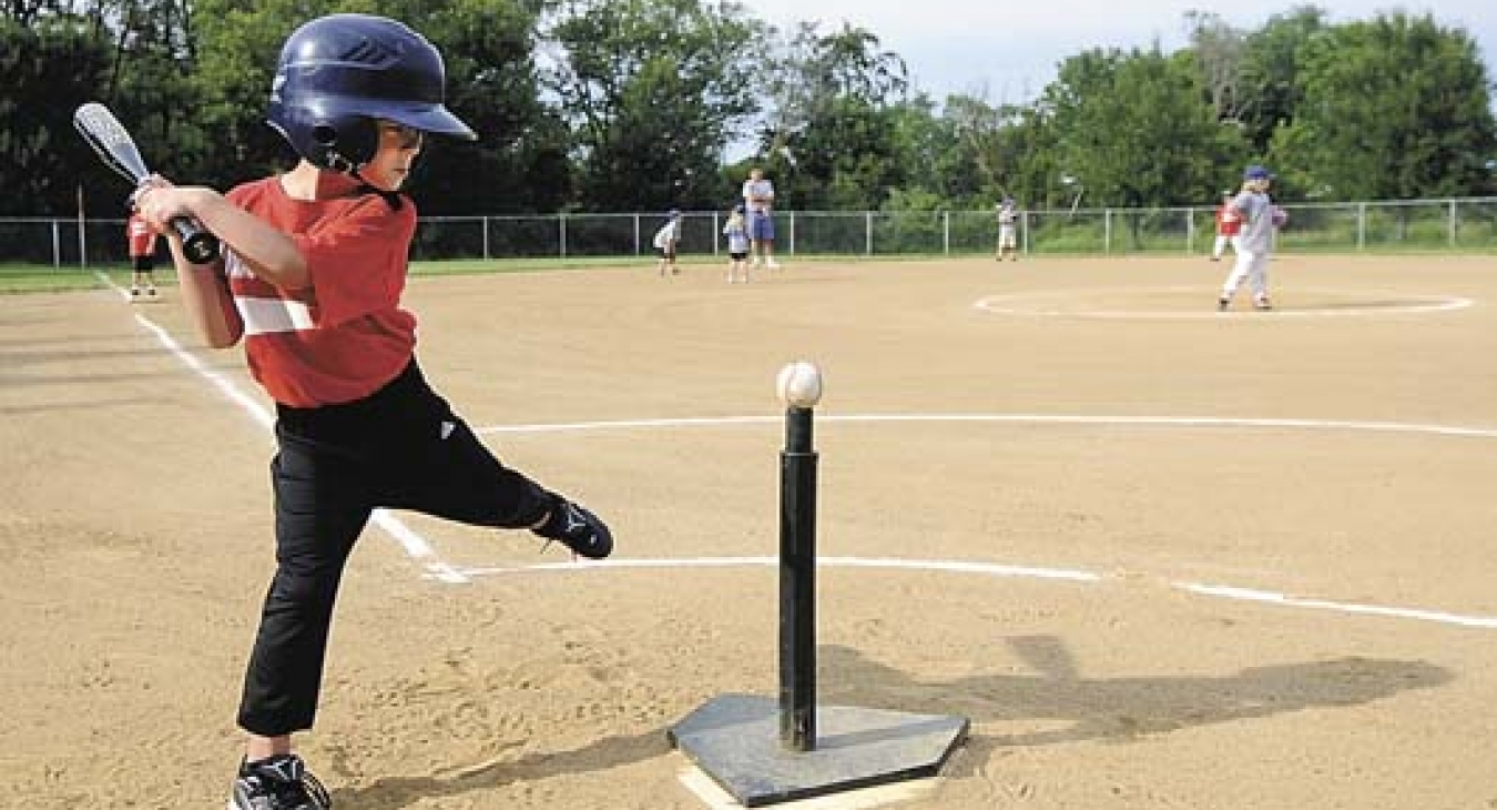 Tee Ball player, up to bat!