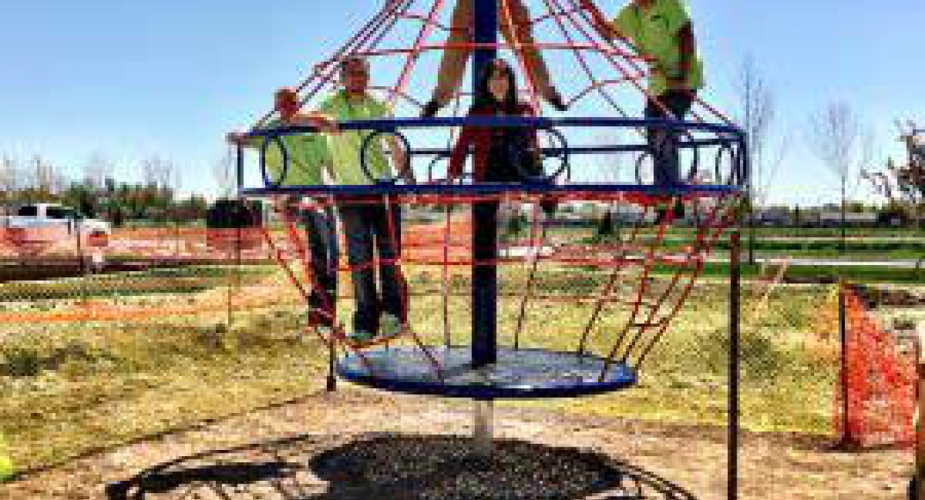 LuckyDog Recreation, the local distributor of Dynamo Industries, is building a new rope-based playground at Bellano Creek in Meridian