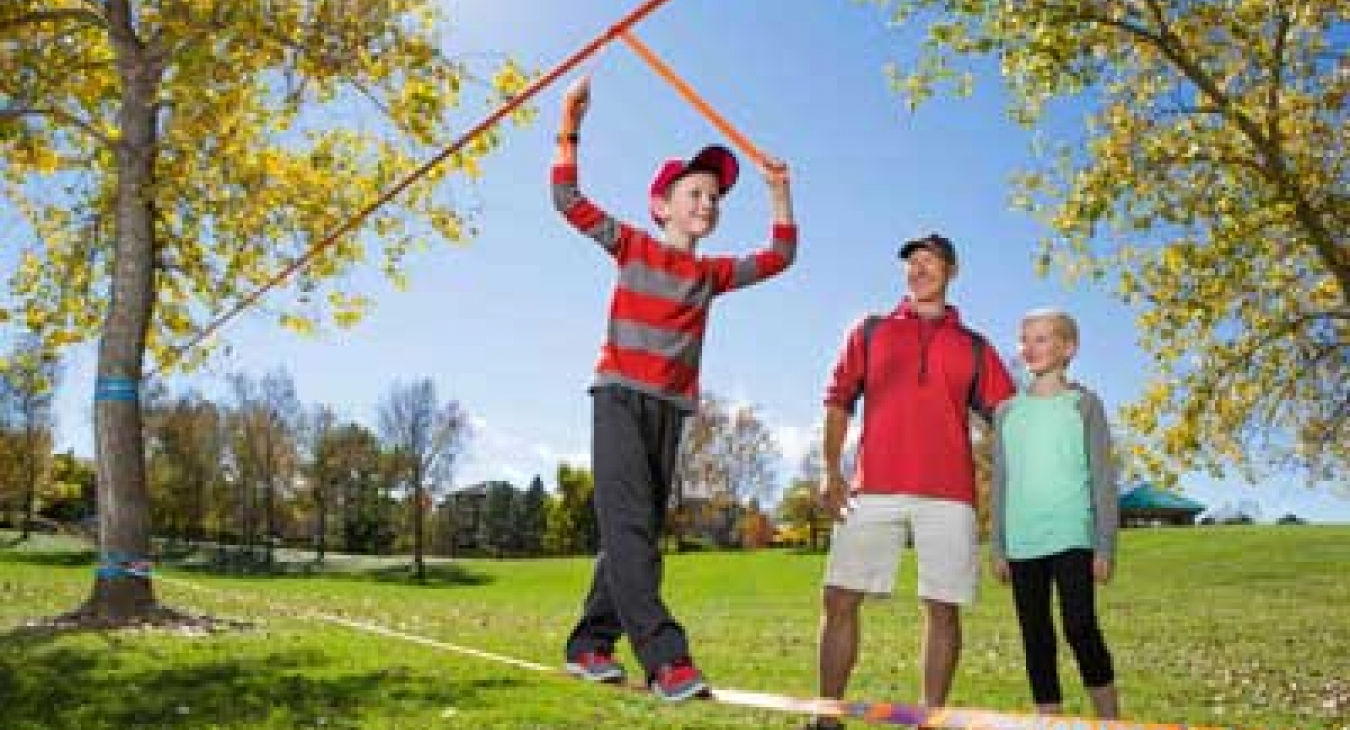 Slacklining for kids